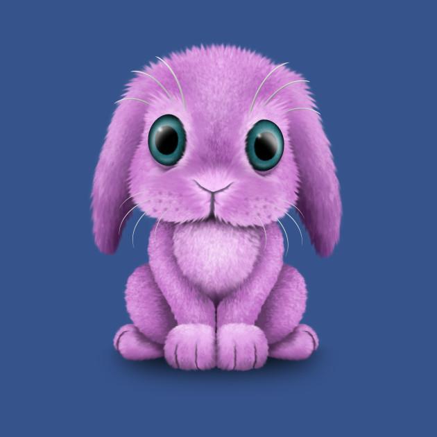 407722b45 Cute Purple Baby Bunny Rabbit