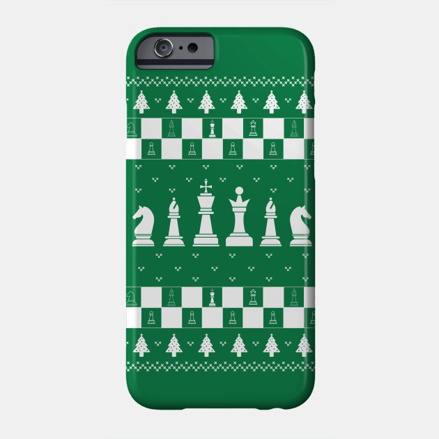 Ugly Christmas Sweater - Chess Board - Funny Christmas Shirt Phone Case