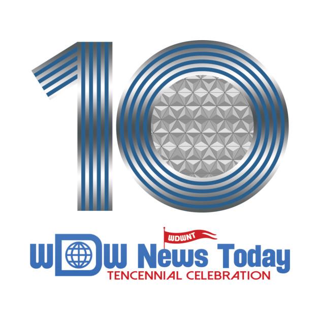 WDWNT.com WDW News Today Tencennial Celebration - 10th Anniversary Logo