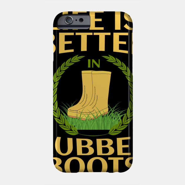 Farmer Agriculture Farm Rubber Boots Gift Idea Phone Case