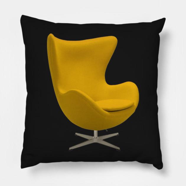 De Egg Chair.Vintage Furniture Swivel Egg Chair Funny Kissen Teepublic De