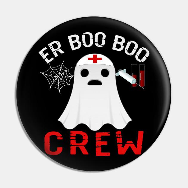 Halloween ER Costume Women Men ER Boo Boo Crew Nurse Ghost T-Shirt