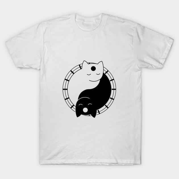 3bf54137a Yoga Cat Yin Yang - Cat Ying Yang - T-Shirt | TeePublic