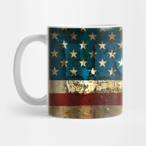 USA / Grunged Flag... Mug