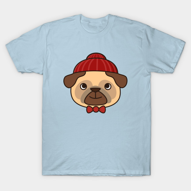 Beanie Pug Is Kawaii And Cute - Pug - T-Shirt  eb6ef0e9a95