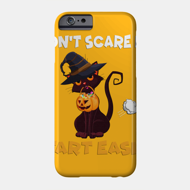 Dont scare me I fart easily Halloween cat t-shirt