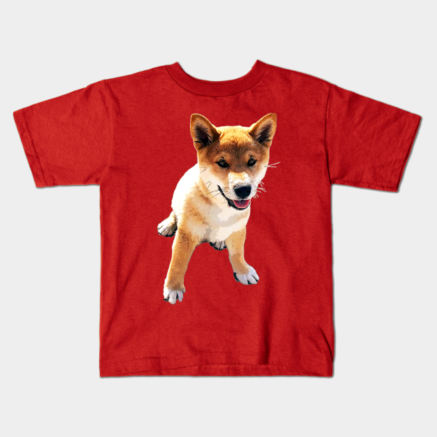 DFUFHDUF3 Kids T-Shirt Fashion Loose Cute Shiba Inu Puppy Dog t Shirt Cotton Linen Breathable Gift for Girl T-Shirts