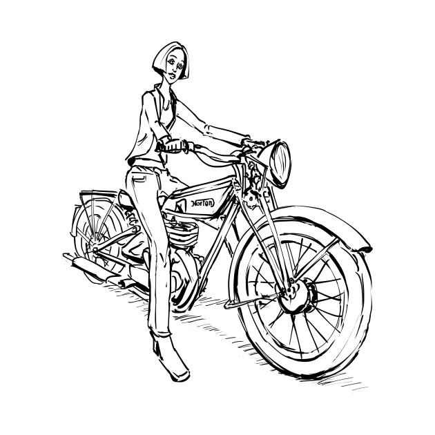 Girl On A Vintage Bike Bike T Shirt Teepublic