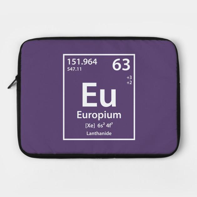 Europium Element Europium Laptop Case Teepublic