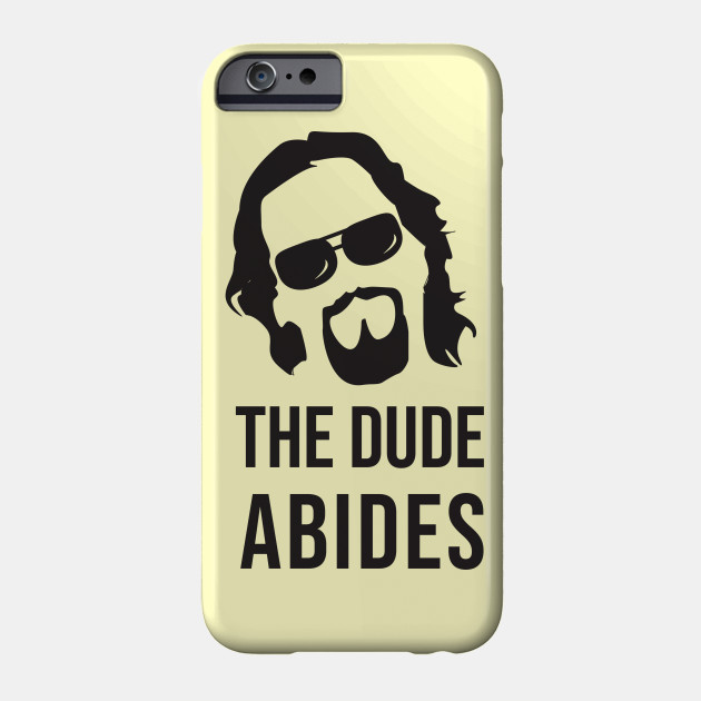 JEFF THE BIG LEBOWSKI ABIDE OBE iphone case
