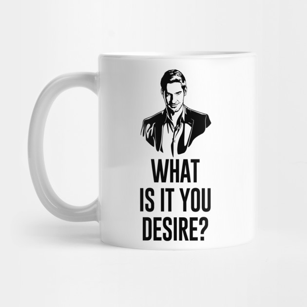 Lucifer Morningstar What Is It You Desire Mug