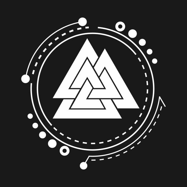 Valknut Norse Pagan Symbol Valknut Symbol Long Sleeve T Shirt