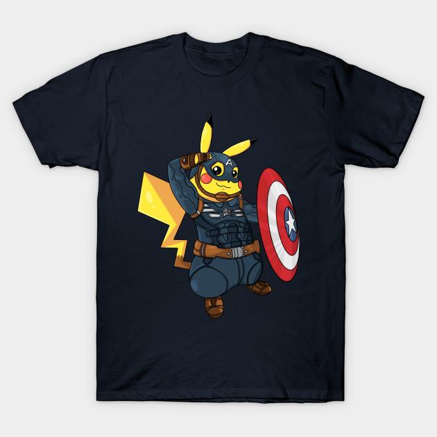 2c110fa89 Captain Americhu - Pikachu - T-Shirt | TeePublic