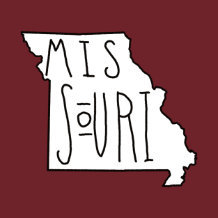 The State of Missouri - No Color t-shirts