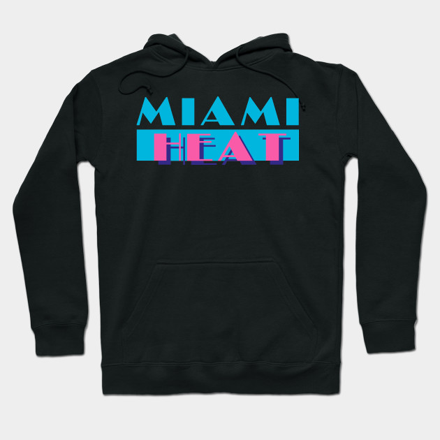 Miami Heat In Miami Vice Style Miami Heat Hoodie Teepublic
