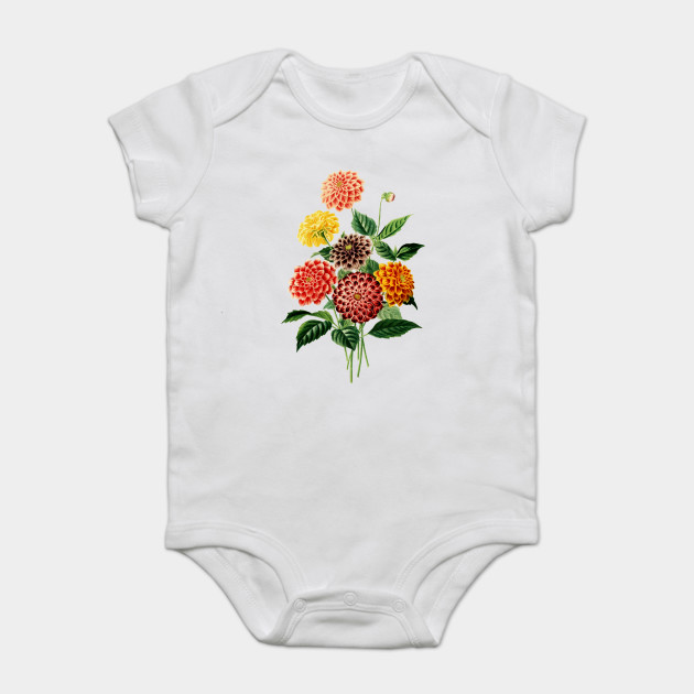 Colorful Botanical Flowers bouquet - Pink - Onesie | TeePublic
