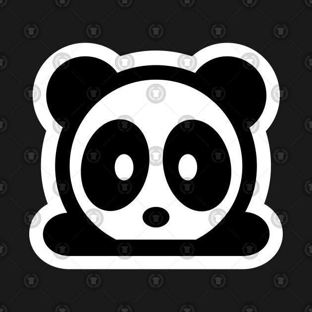Bambu Brand Logo Panda Black White Bamboo Forest Grass