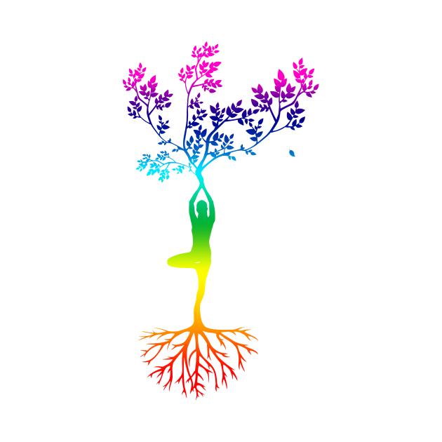 Yoga spiritual chakra tree of life spirituel magic