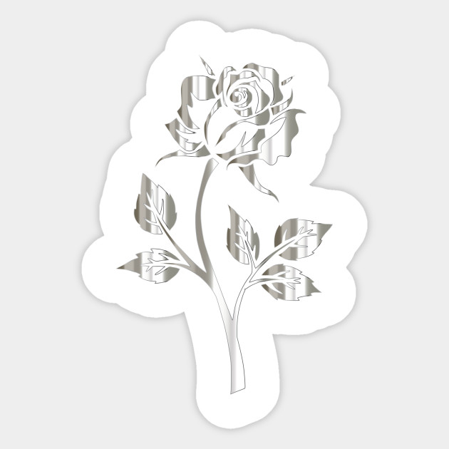 LIMITED EDITION Exclusive Polished Silver Rose Silhouette No