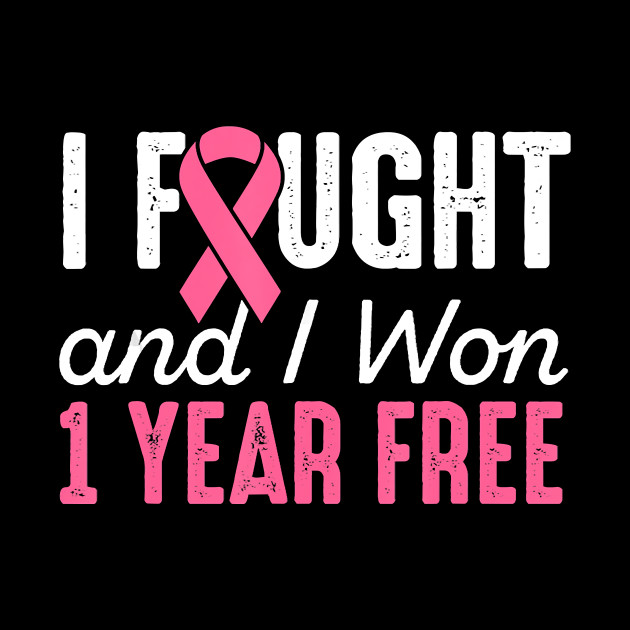 Breast Cancerversary I Fought And I Won 1 Year Breast Cancer Free Gift Pink