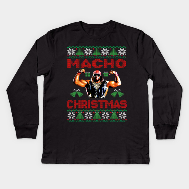 Macho Man Randy Savage Fan Art Tribute Ugly Christmas Sweater Design