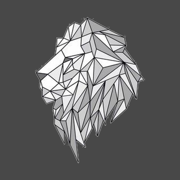 geometric lion head graphic geometric lion head lion
