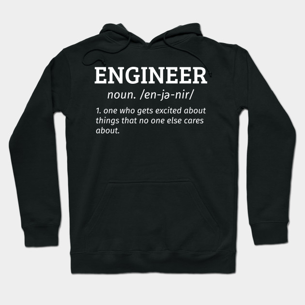 Engineer Noun Hoodie Mens Funny Christmas Gift for Dad Him Fathers Day S-2XL