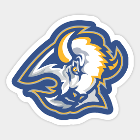 Goathead in Blue and Gold Sticker 210f174d3