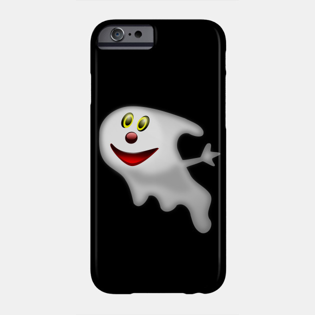 Ghost Halloween Creepy Face Scary Spooky Smiley Phone Case