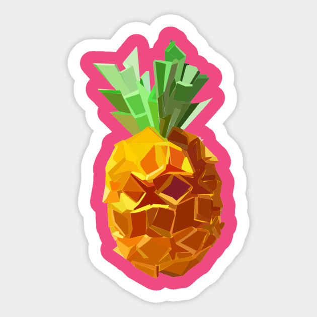 Origami Pineapple Pineapple Sticker Teepublic
