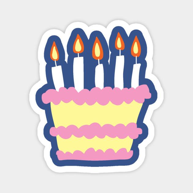 Pink White Birthday Cake
