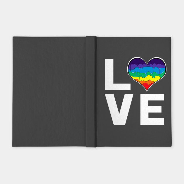 Rainbow Drip Heart LOVE