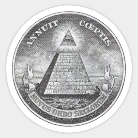 All Seeing Eye Pyramid Stickers