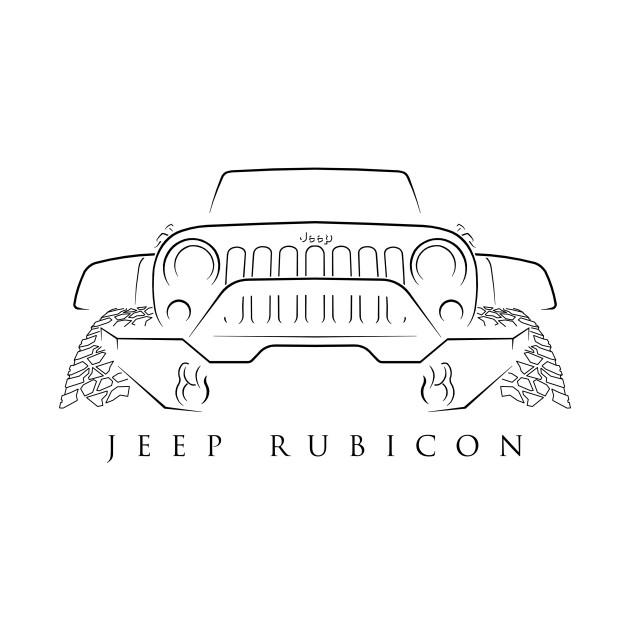 Jeep wrangler rubicon stencil t shirt teepublic