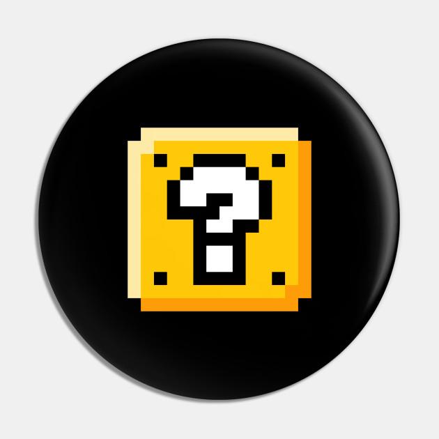 Retro Pixel Art Surprise Block 1980s Gaming