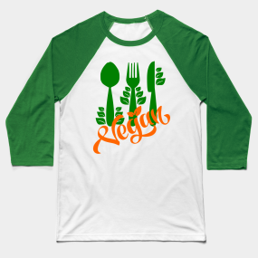 0e97d3f16ce95 Vegan Power Baseball T-Shirts