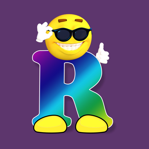 letter r alphabet smiley monogram face emoji shirt for men women kids sunglass long sleeve t shirt teepublic