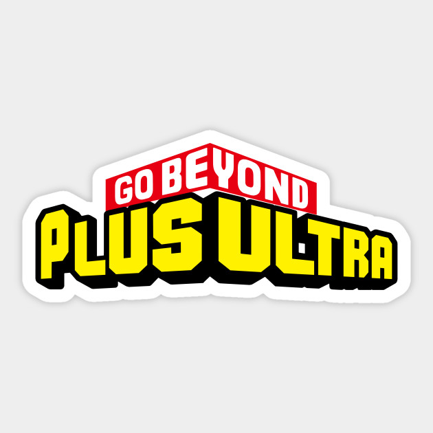 Plus ultra sticker