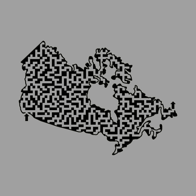 Canada Outline Maze & Labyrinth