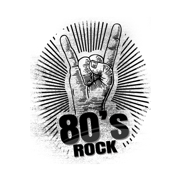 '80s Rock On Band' Awesome Eighties Vintage Gift