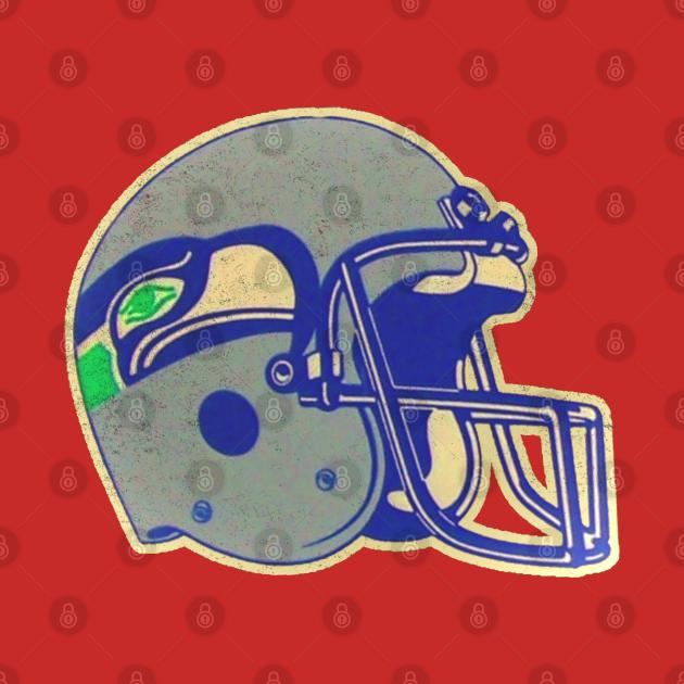 80's Seahawks Helmet [Vintage Distressed]