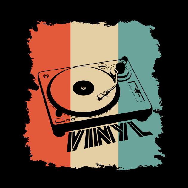 Retro Vintage Vinyl Record Player