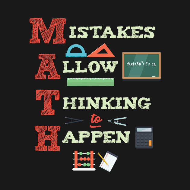 mistakes allow thinking to happen math teacher this design is the