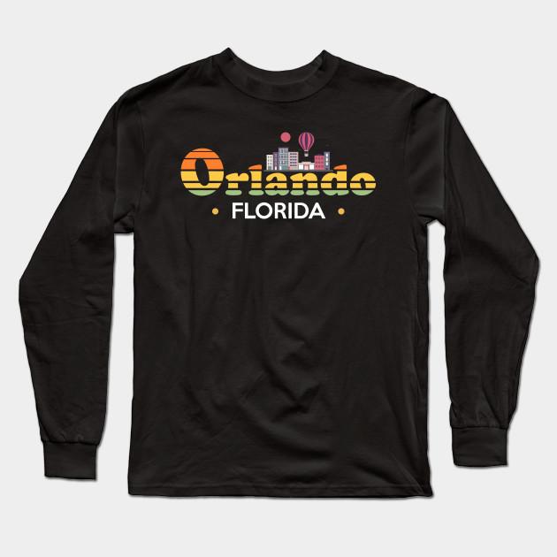 8216f45c101 Orlando Florida Skyline Design - Orlando - Long Sleeve T-Shirt ...