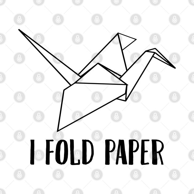 I fold paper I japanese orizuru origami crane