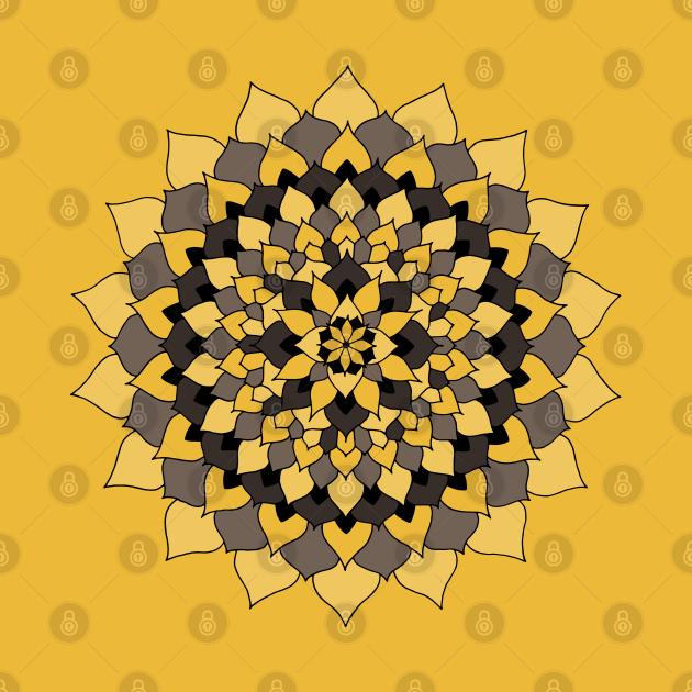 Badger's Pride Floral Mandala