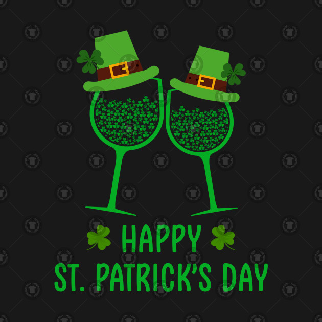 efbcf05c4 Irish Shamrock Wine Glass Happy StPatrick Day Gift Men Women - St ...