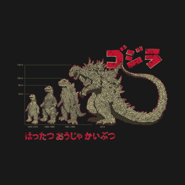 Evolution Of The King Of Monsters T-Shirt