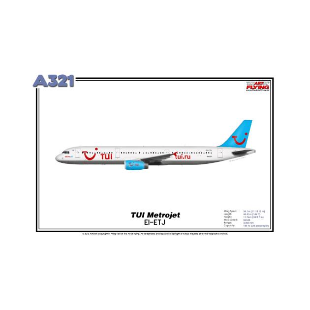Airbus A321 - TUI Metrojet (Art Print)