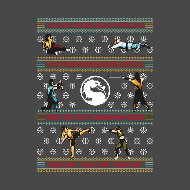 Finish Him! Finish Him! Finish Him! - Mortal Kombat Ugly Sweater, Christmas Sweater & Holiday Sweater